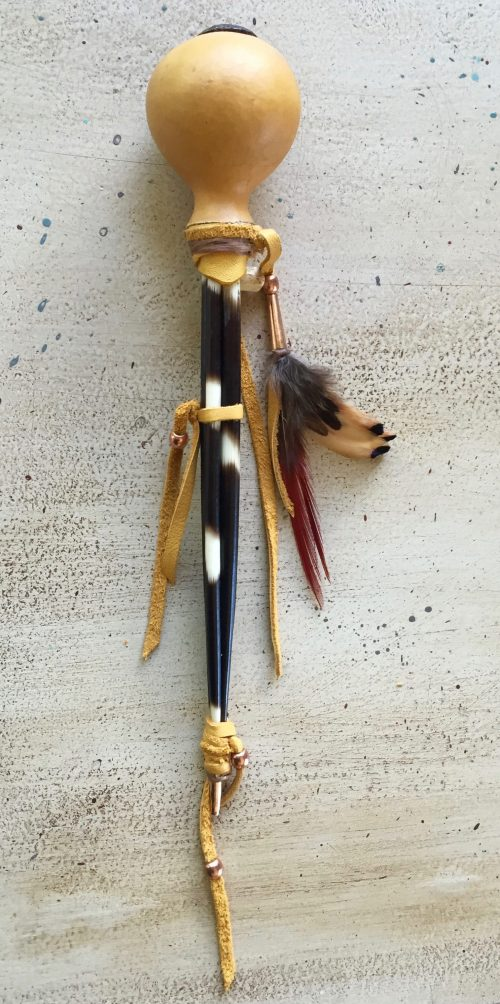 Porcupine Quill Gourd Rattle