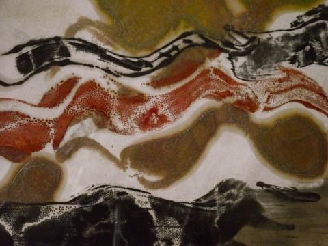 Subterranean Encaustic Monoprint