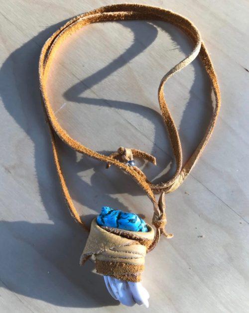 buffalo turquoise amulet gold sacred art jewelry