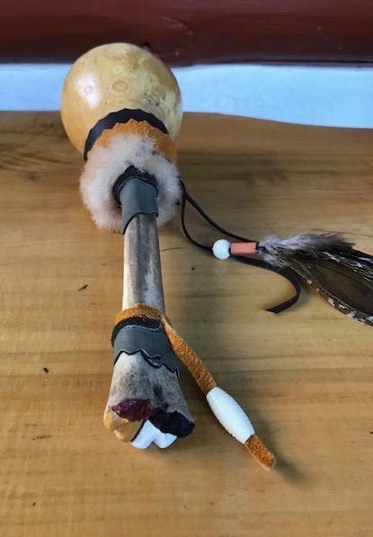 Gourd Elk Peacock-rattle-4-directions