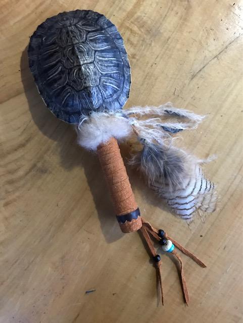 turtle owl rattle top