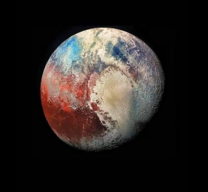 satellite image of Pluto