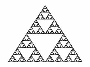 infinite fractal triangle